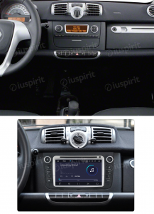 ANDROID 10 autoradio navigatore per Smart Fortwo 2012-2013 GPS DVD WI-FI Bluetooth MirrorLink