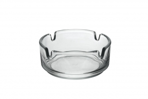Posacenere impilabile in vetro trasparente cm.3,6h diam.8,5