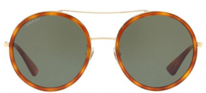 Gucci - Occhiale da Sole Donna, Havana Gold/Green Shaded  GG0061S  002  C56