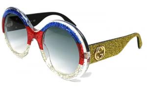 Gucci - Occhiale da Sole Donna, Multicolor Glitter/Grey Shaded  GG0101S  006  C53