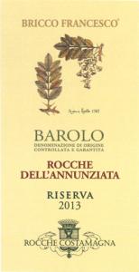 BAROLO DOCG ROCCHE DELL'ANNUNZIATA RISERVA 2013