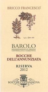 BAROLO DOCG ROCCHE DELL'ANNUNZIATA RISERVA 2012