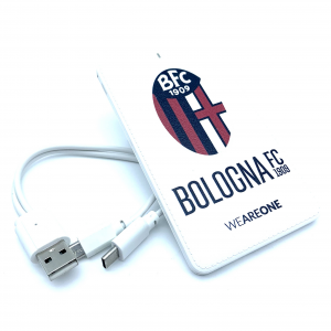 Bologna Fc POWER BANK IN PELLE BIANCO