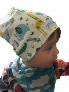 Set zoo verde cappello + paracollo