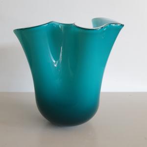 Vaso vetro Edg fazzoletto verde medio