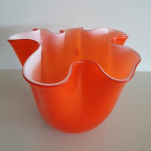 Vaso vetro Edg fazzoletto arancio medio