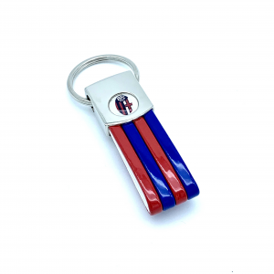 Bologna Fc RED AND BLUE STRIPES KEY RING