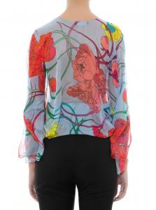 Camicia Les Bourdelles des Garçons in chiffon e maniche ampie