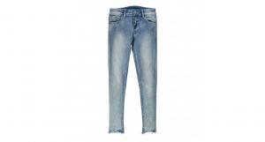 Jeans stretch con strass