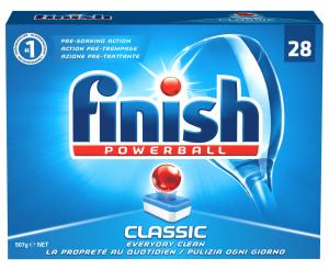 FINISH CLASSIC 28 lavaggi Detersivi lavastoviglie