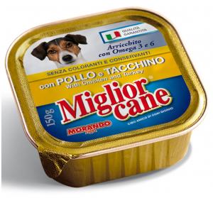 MIGLIOR CANE 150 gr. umido pollo/tacc. - Cibo per cani
