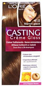 L'OREAL Set 6 Casting 415 Crema Marron Glace'No Ammoniaca Prodotti Per Capelli