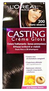 L'OREAL Set 6 Casting 200 Crema Nero Ebano No Ammoniaca Prodotti Per Capelli