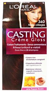 L'OREAL Set 6 Casting 360 Crema Nero Ciliegia No Ammoniaca Prodotti Per Capelli