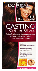 L'OREAL Set 6 Casting 515 Creme Marron Chocolat No Ammoniaca Prodotti Per Capelli