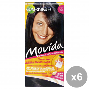GARNIER Set 6 Movida 55 Nero Senza Ammoniaca Prodotti Per Capelli