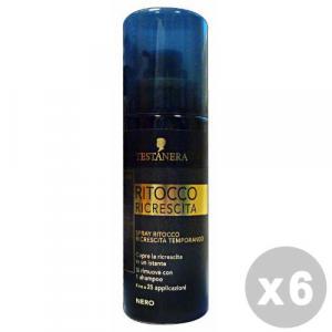 TESTANERA Set 6 TESTANERA Ritocco ricrescita spray nero 120 ml. - coloranti capelli