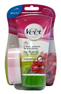 VEET Crema Depilatoria Doccia Natural Tutti I Tipi Di Pelle Cura Del Corpo