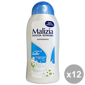 MALIZIA Set 12 Doccia Crema Di Latte 300 Ml. Saponi E Cosmetici