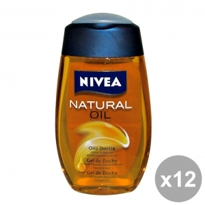 Set 12 NIVEA Doccia NaturaL OIL 200 Ml.  Saponi e cosmetici