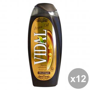 Set 12 VIDAL Doccia Olio Di Argan 250 Ml. Saponi e cosmetici