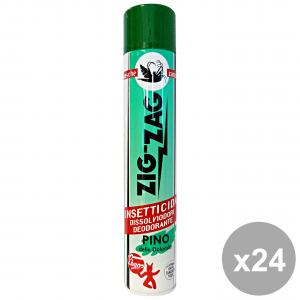 Set 24 ZIGZAG Mosche-Zanzare PINO SILVESTRE Spray 500 Ml. Articoli per insetti