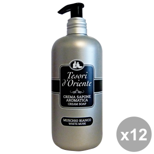 TESORI D'ORIENTE Set 12 Sapone Liquido Muschio Bianco 300 Ml. Saponi E Cosmetici