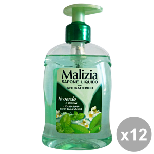 Set 12 MALIZIA Sapone Liquido TE'Verde-LIME 300 Ml. Saponi e cosmetici