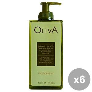 Set 6 PHYTORELAX OLIVA Sapone Liquido 250 Ml. Saponi e cosmetici
