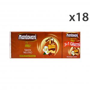 Set 18 MANTOVANI Saponette Argan X 3+1 Pezzi 100 Gr. Saponi e cosmetici