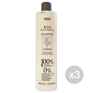 Set 3 DIKSON Shampoo Bio Naturali Vellutante Olio Di Lino 400 Ml Prodotto Per Capelli