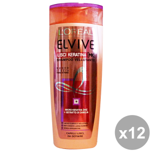 Set 12 ELVIVE Shampoo Lisci Keratina 250 ML Prodotti per capelli
