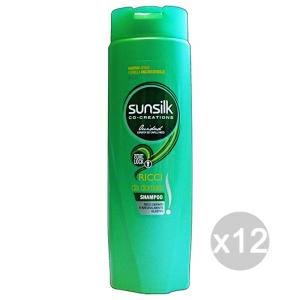 Set 12 SUNSILK Shampoo Ricci Da Domare Verde 250 Ml Prodotto Per Capelli