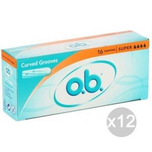 Set 12 O.B. Assorbenti Super X 16 Igiene Intima Femminile