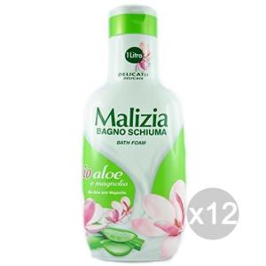 Set 12 MALIZIA Bagno Lt 1 Bio Aloe-Magnolia Cura E Pulizia Del Corpo