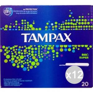 Set 12 TAMPAX Assorbenti Super X 20 Igiene Intima Femminile