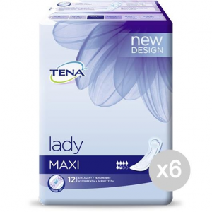 Set 6 TENA Lady Maxi X 12 760928-01 Salvaslip Assorbente Igiene Intima Femminile