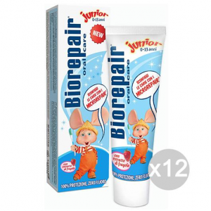 Set 12 BIOREPAIR Dentifricio 50 Junior Topo Gigio Igiene E Cura Dei Denti