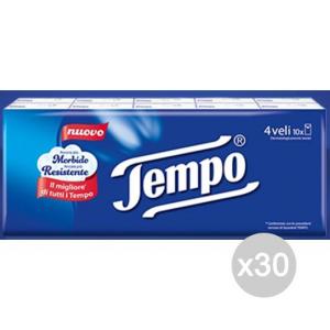 Set 30 TEMPO Fazzoletti Di Carta X 10 Pacchetti Classic