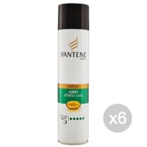 Set 6 PANTENE Lacca New 5 Lisci Effetto Seta T/Estrema E Acconciatura Capelli