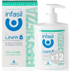 Set 12 INFASIL Intimo Ml 200 Freschezza Attiva Cura E Igiene Del Corpo