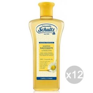 Set 12 SCHULTZ Shampoo Ravvivante 250 Camomilla Cura E Trattamento Dei Capelli