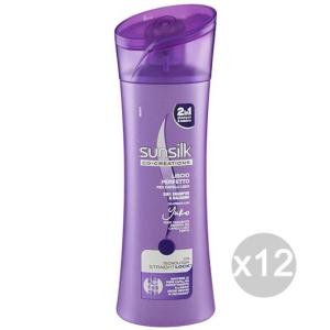 Set 12 SUNSILK Shampoo 2In1 Liscio Perfetto Cura E Trattamento Dei Capelli