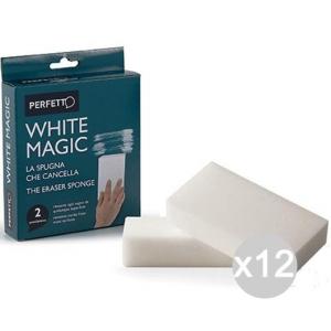 Set 12 PERFETTO Gomma White Magica X2 0246E Attrezzo Pulizia Della Casa