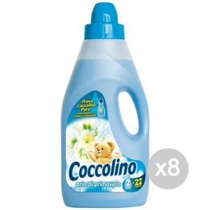 Set 8 COCCOLINO Ammorbidente Lt 2 Blu' Primavera Detersivo Lavatrice E Bucato