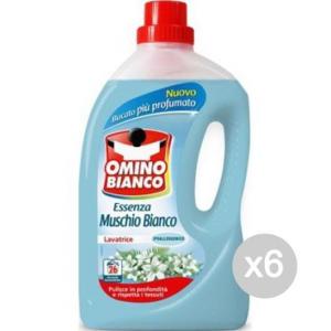 Set 6 OMINO BIANCO 30 Lavatrice Muschio Bianco Detersivo Lavatrice E Bucato