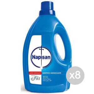 Set 8 NAPISAN Bucato Liquido Steril. Lt 1+20% Detersivo Lavatrice E Bucato