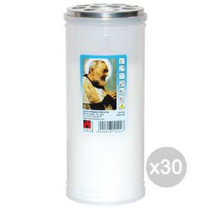 Set 30 Lumini U Ceri T40 Bianco Cm 15 P/Pio 102C Profumazione E Decorazione Della Casa