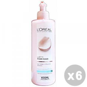 L'OREAL Set 6 L'OREAL Fiori rari latte detergente pelli normali/miste 400 ml.