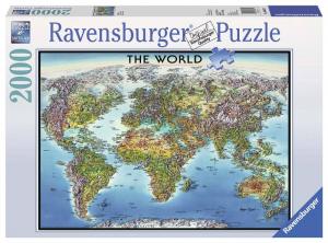 RAVENSBURGER Puzzle 2000 Pezzi World Map Puzzle Giocattolo 363